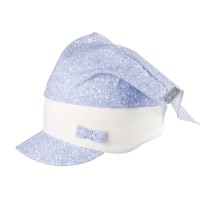 Kopftuch Stirnband Capi Blume hellblau