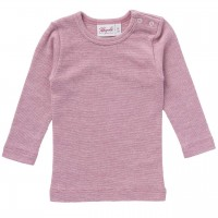 Wolle Seide Langarmshirt rosa