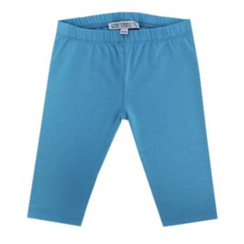 Glatte 3/4 Leggings blau