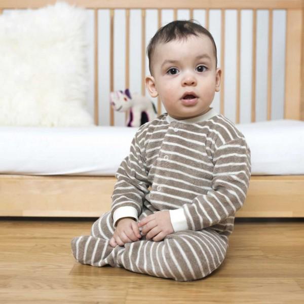 Frottee Schlafanzug mit Fuß braun