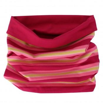 Streifen Schlauchschal in pink