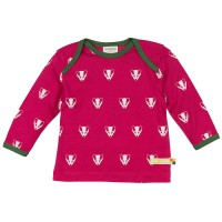 Wolle Baumwolle Shirt Dachs berry