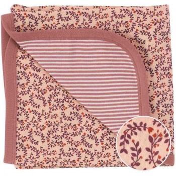 Wendedecke / Babydecke Blätter rosa