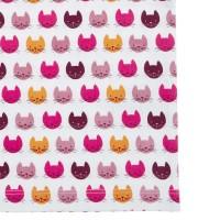 Vorschau: Bio Mädchen Unterhemd pinke Katzen