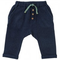 Sweat Babyhose in dunkelblau melange