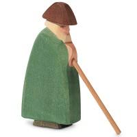 Schäfer mit Stab Holzfigur 14 cm hoch
