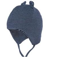 Babymütze mit Öhrchen aus Biobaumwolle neutral navy blau
