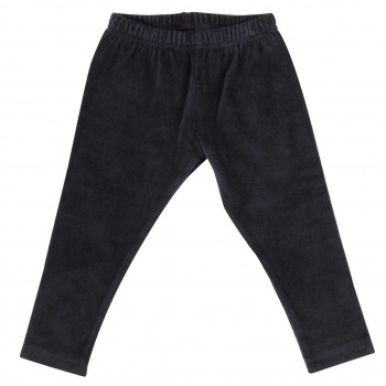 Warme Velour Leggings in navy