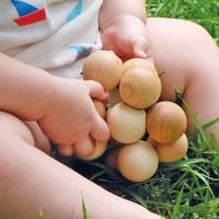 Vorschau: Holz Babyspielzeug Kugelgreifling
