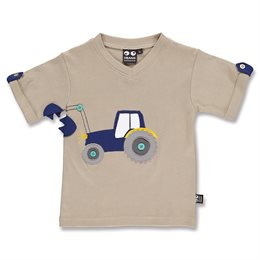 Cooles Jungen T-Shirt Traktor sand