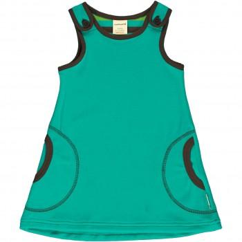 Weiches Nicki Kleid ohne Arm in petrol