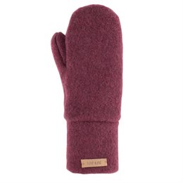 Bio Wolle Kinder Handschuhe neutral bordeaux