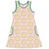 Sommerliches Kleid ohne Arm Zitronen in hellrosa