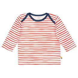 Shirt langarm Streifen rot