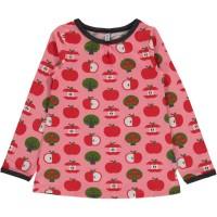 Apfel Langarmshirt rosa