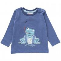 Langarmshirt Frosch jeansblau