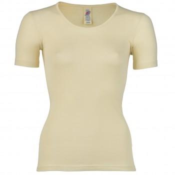 Wolle Seide Damen kurzarm Shirt natur