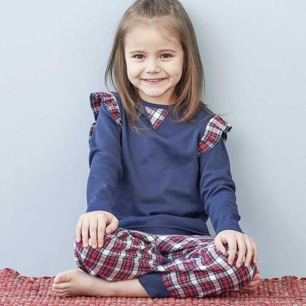 Weicher Mädchen Flanell Pyjama