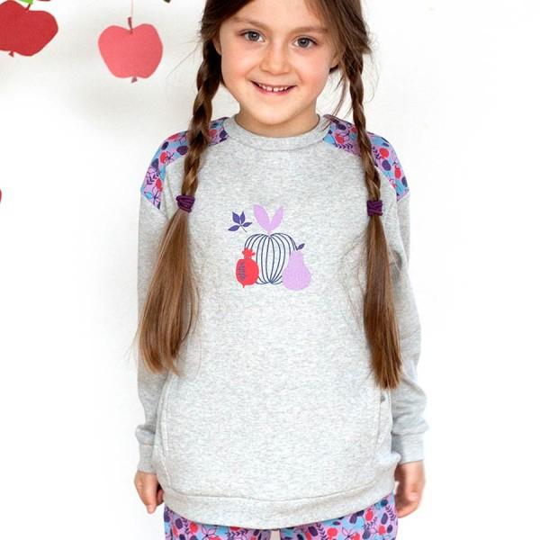 Warmes Sweatshirt Mädchen grau