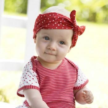 Rotes Haarband mit Schleife Punkte