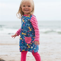 Mädchen Outfit Tunica Kleid langarm mit Hose