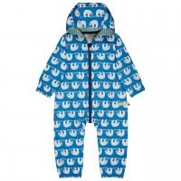 Ungefütterter leichter Baby Overall Faultiere blau