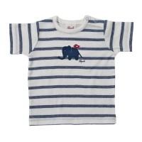 Leichtes Shirt aus feiner Rippe - dehnbar & bequem - blau