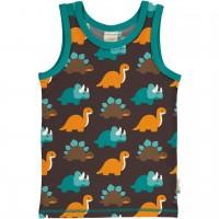 Unterhemd Dinosaurier in dunkelbraun