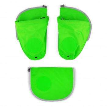 Seitentaschen für ergobag Schulranzen grün