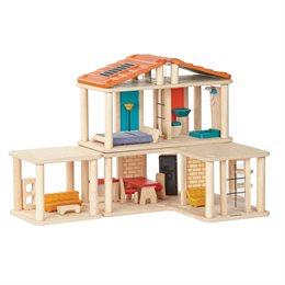 Puppenhaus möbliert mit flexiblen Modulen