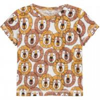 Leichtes Shirt kurzarm Löwen-Print