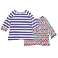 Wendeshirt für Babys & Kinder - einfach praktisch - lila