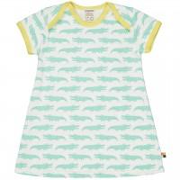 sommerliches Kleid Krokodile mint/hell