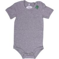 Vorschau: grauer Babybody kurzarm super soft