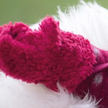 Teddyplüsch Handschuhe Biobaumwolle pink