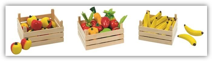 Spielzeug-Obst-aus-Holz-Kaufladen-Zubehor-in-Holzkiste-Goki