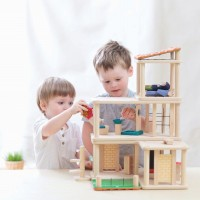 Vorschau: Puppenhaus möbliert mit flexiblen Modulen