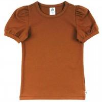 Edles T-Shirt Puffärmel in ocker braun