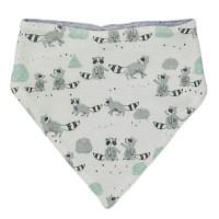 Wendedreiecktuch Waschbären grau weiß