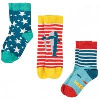 Kinder Socken 3er Pack Hai