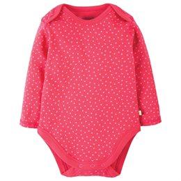 Bio Baby Body dicker pink Punkte