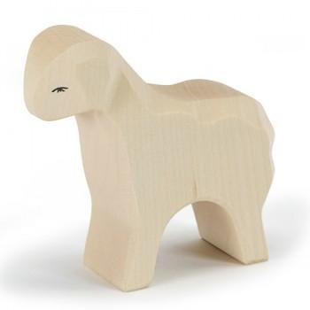 Schaf stehend aus Holz 8 cm hoch