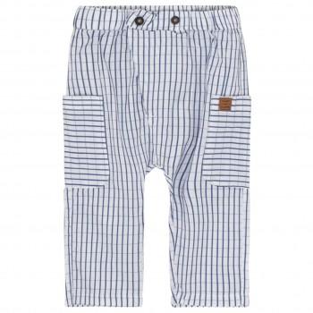 Leichte Hose gewebt karo blau
