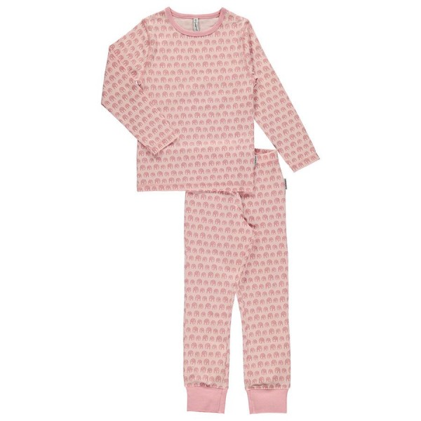 Langarm Schlafanzug rosa Elefanten