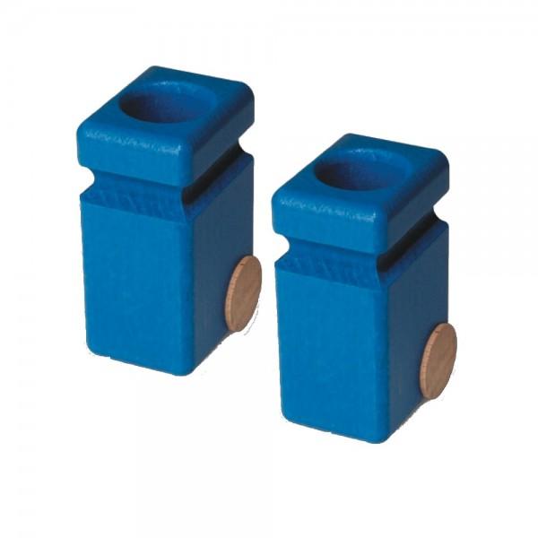 2 Mülltonnen für Fagus Müllwagen - blau