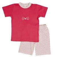 Sommer Bio Schlafanzug corale lachs Farbe