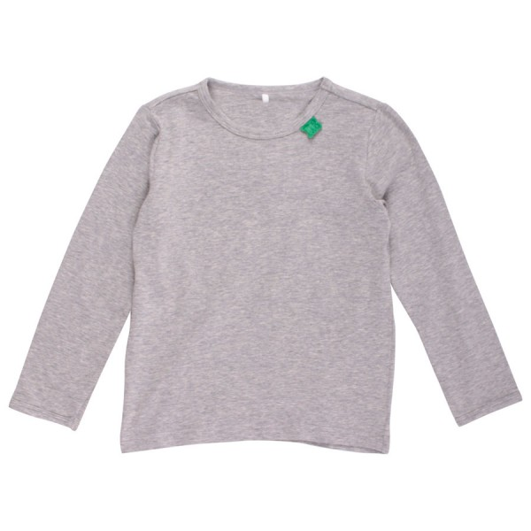 Bio langarm Shirt grau neutral