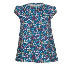 Mädchen Shirt mit elastischem Kragen