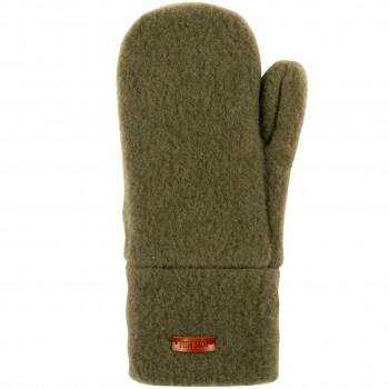 Kinder Handschuhe Wolle moos-grün