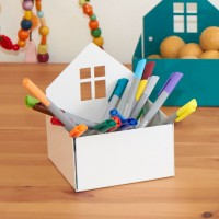 Aufbewahrungsbox für Kinderzimmer – weiss